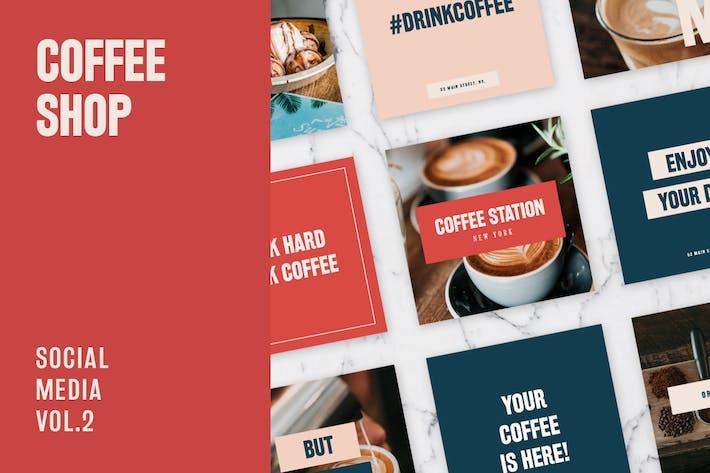 Thumbnail for Coffee Shop Social Media Kit