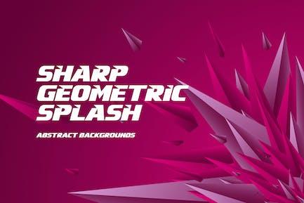 Sharp Geometric Splash Background