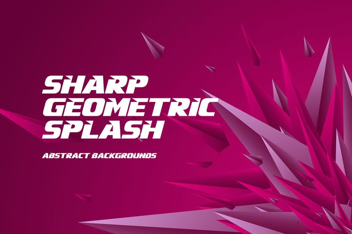 Sharp Geometric Splash Background