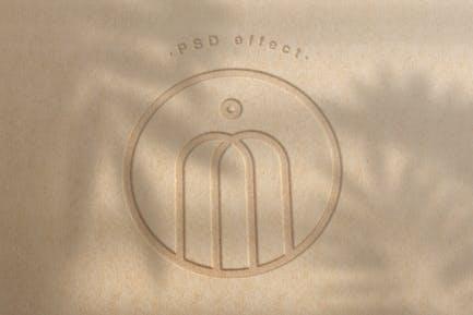 Geprägtes Logo Mockup