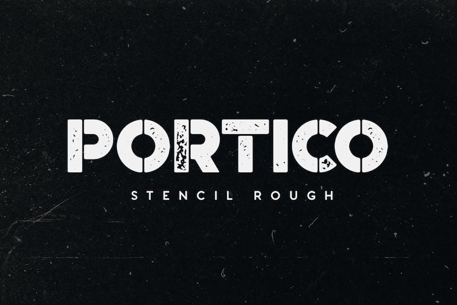 Portico Stencil Rough