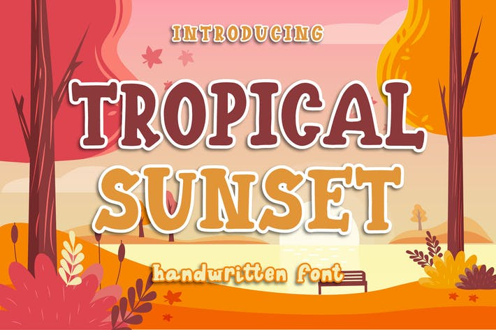 Tropical Sunset - Police manuscrite