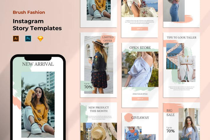 Thumbnail for Instagram Stories Template - Fashion Pastel Color