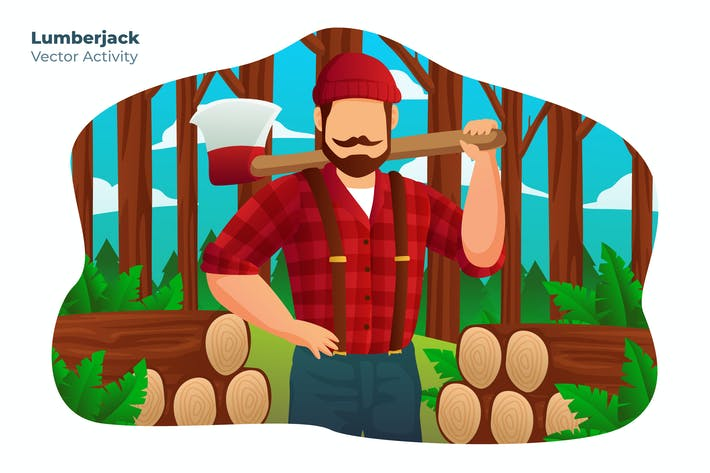 Thumbnail for Lumberjack - Vector Illustration