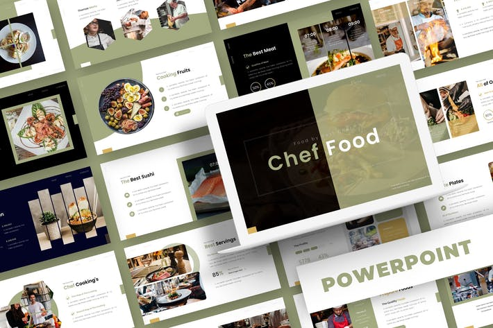 Thumbnail for Chef Food - Powerpoint Template