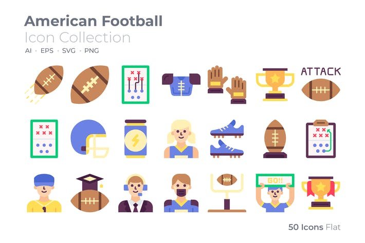 Thumbnail for American Football Color Icon