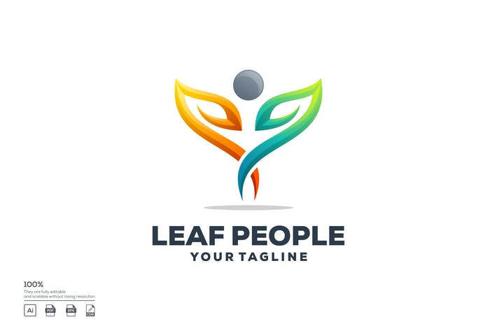 Thumbnail for Logo Leaf People