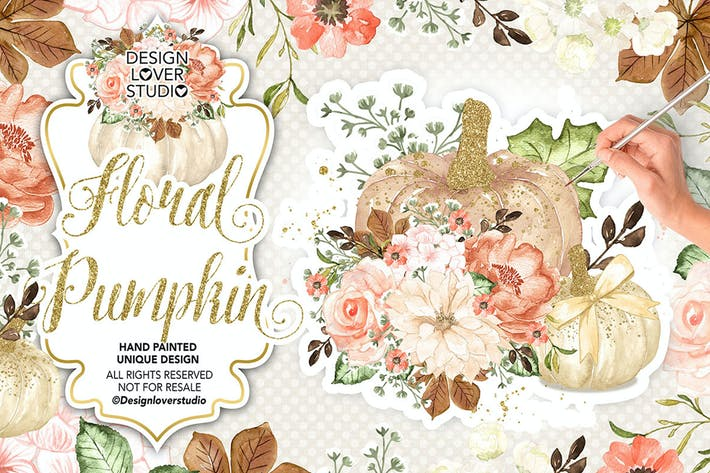 Thumbnail for Floral Pumpkin