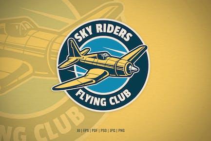 flying club aviation logo template