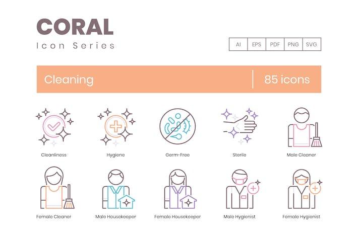 Thumbnail for 85 Icons für Reinigungslinien