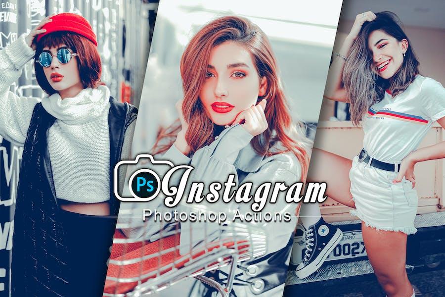 Instagram Модное настроение Photoshop
