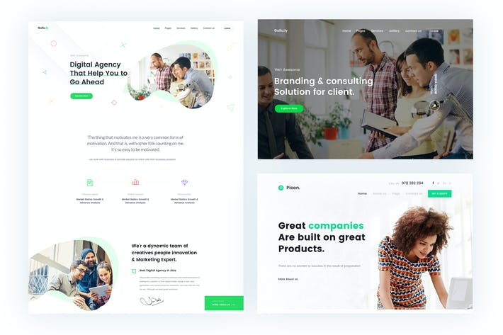 Thumbnail for Gullu.ly Business & Agency PSD Template