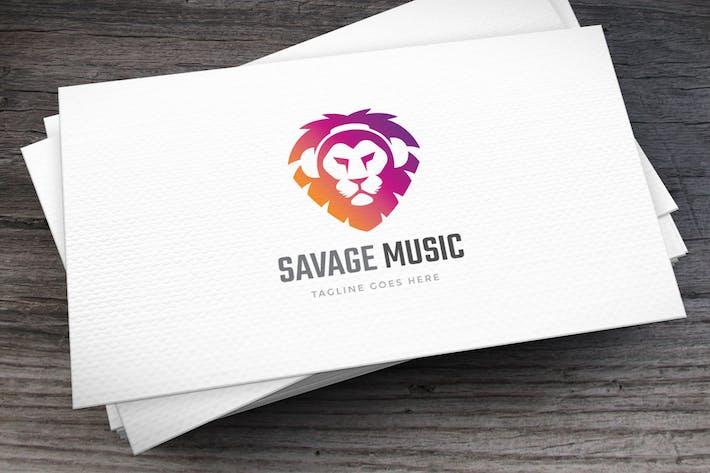 Thumbnail for Savage Music Logo Template