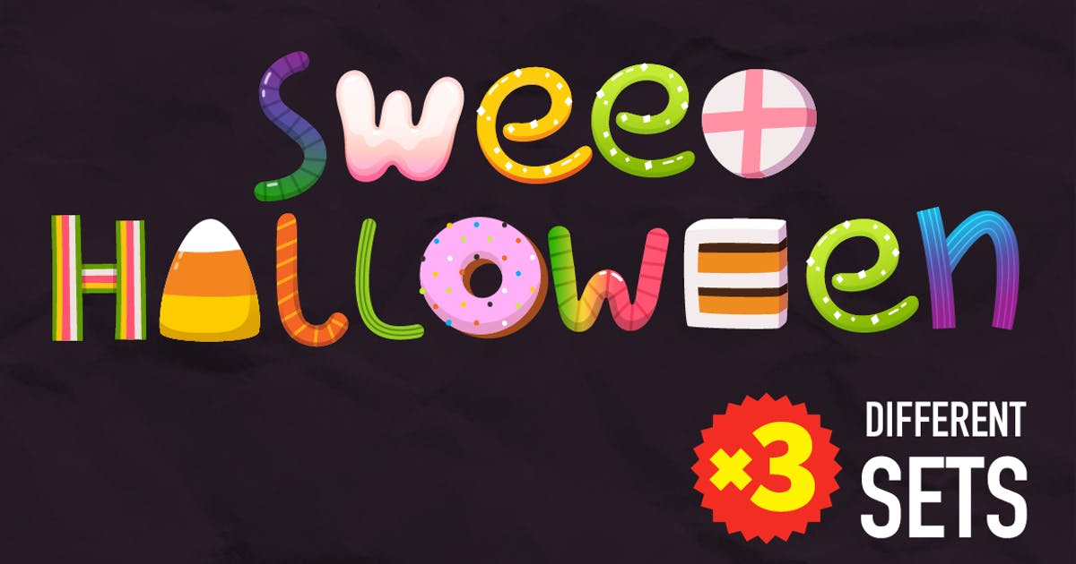 Download Halloween Candy Letters by moonery