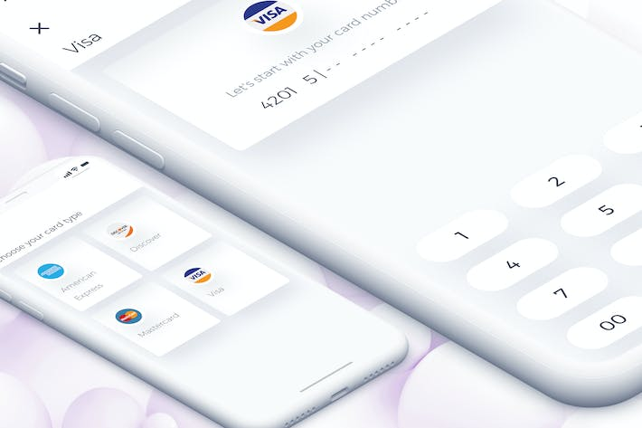 Thumbnail for Wallet Card Type Mobile Ui for IPhoneX