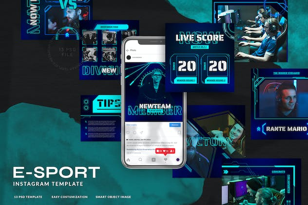 eSport & Gaming Instagram Template V.06 - product preview 0