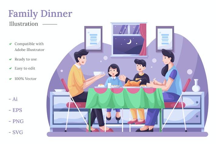 Thumbnail for Family Dinner Illustration