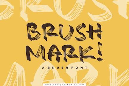 Brush Mark | A Texture Brush Font