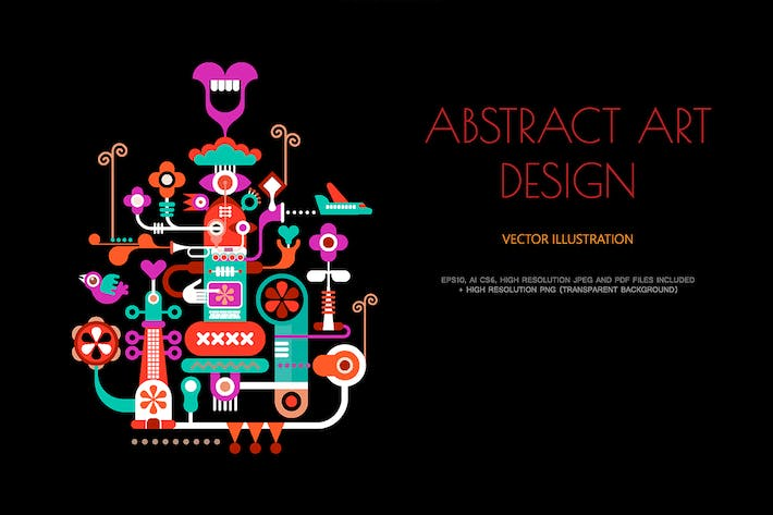 Cover Image For Abstract Art Design vector illustration
