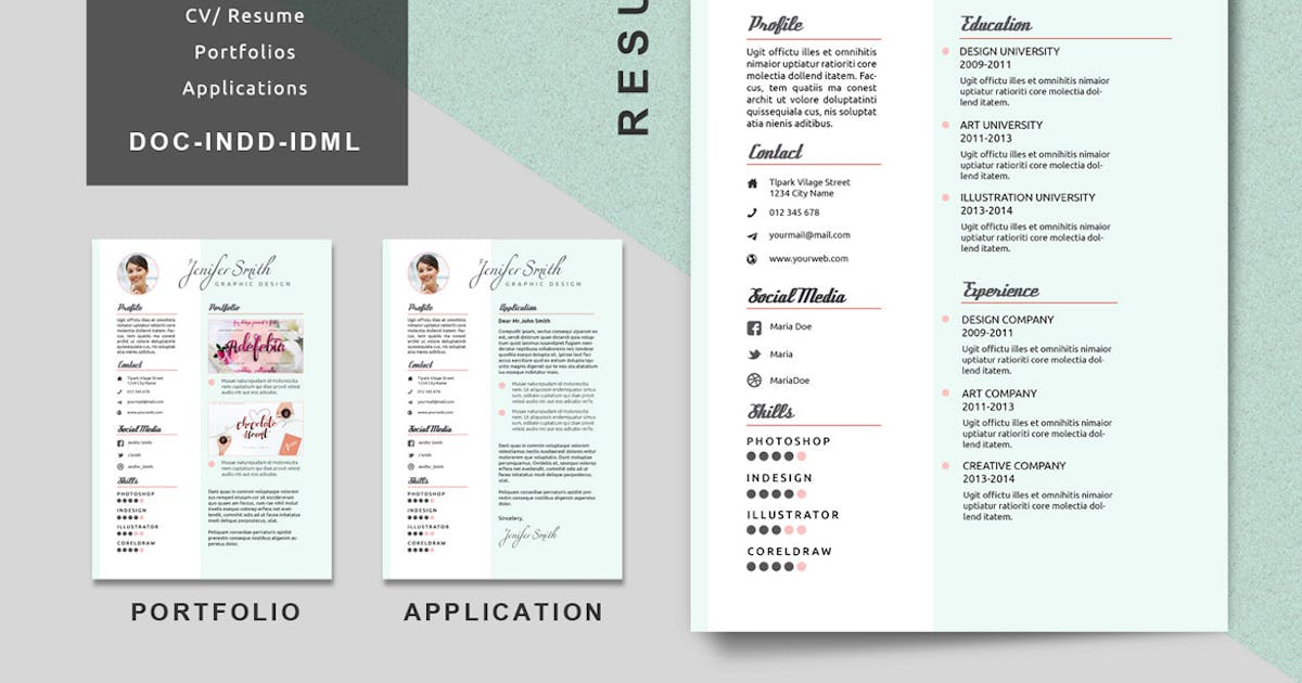 Download Resume Creative Templates by Voltury