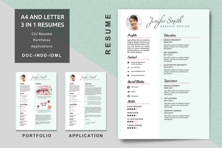 resume creative templates by voltury on envato elements