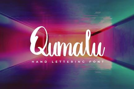 Qumalu - Hand Lettering Font