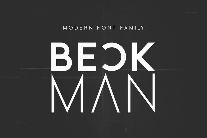 Thumbnail for Beckman - Modern Font Family