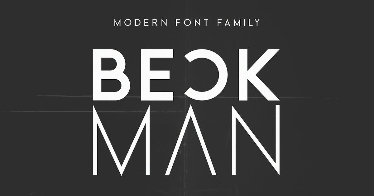 Download Beckman - Modern Font Family by factory738