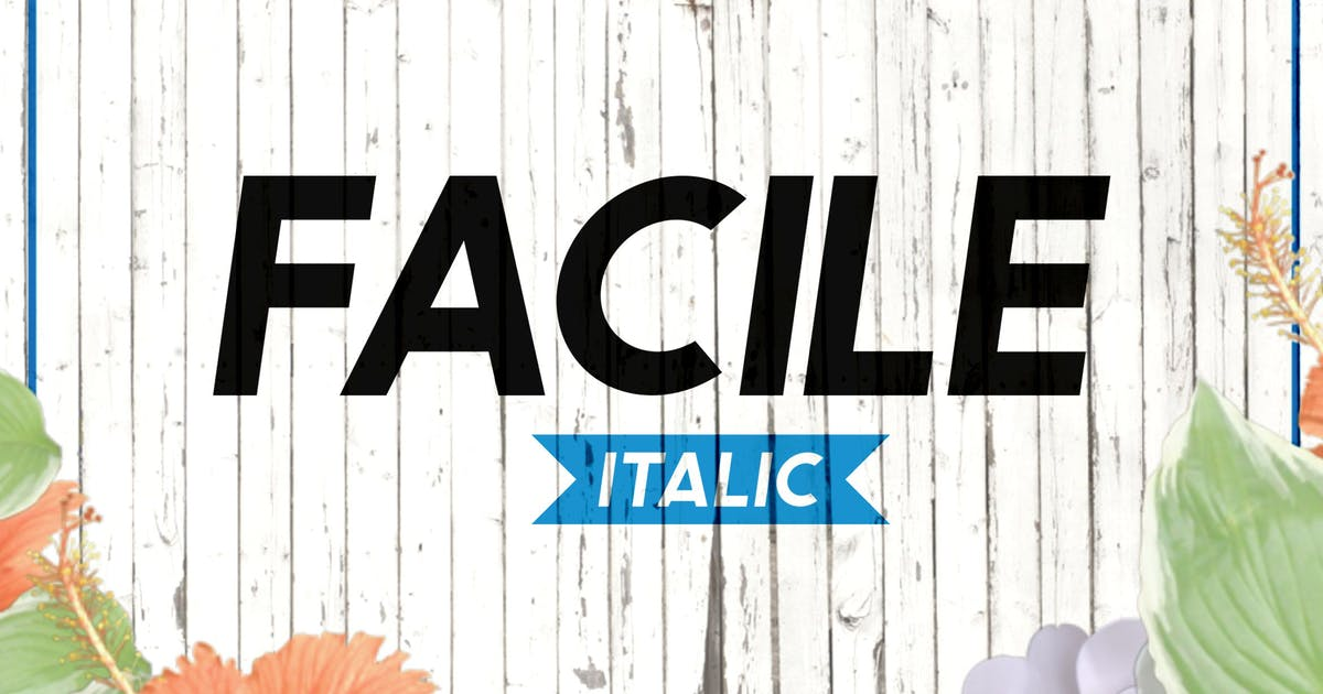 Download Facile Italic by twicolabs