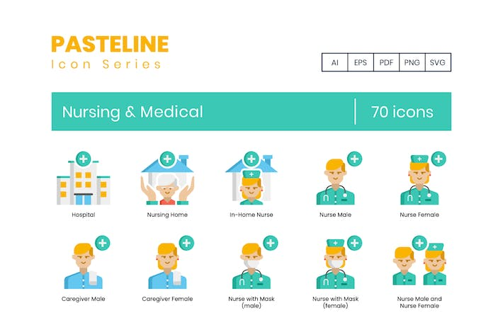 Thumbnail for 70 Nursing & Medical Flat Icons