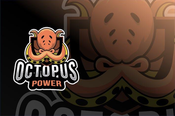 Thumbnail for Octopus Power Esport Logo Template