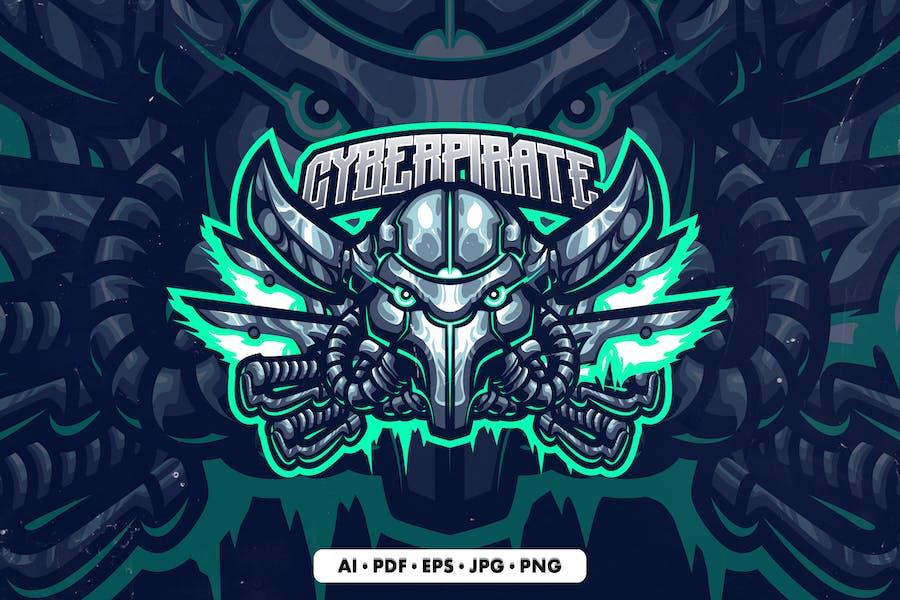 Cyber Pirates Mascot logo template