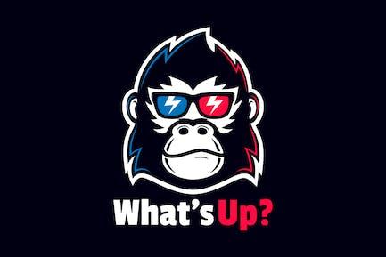 Coole Gorilla Head Wear Brillen