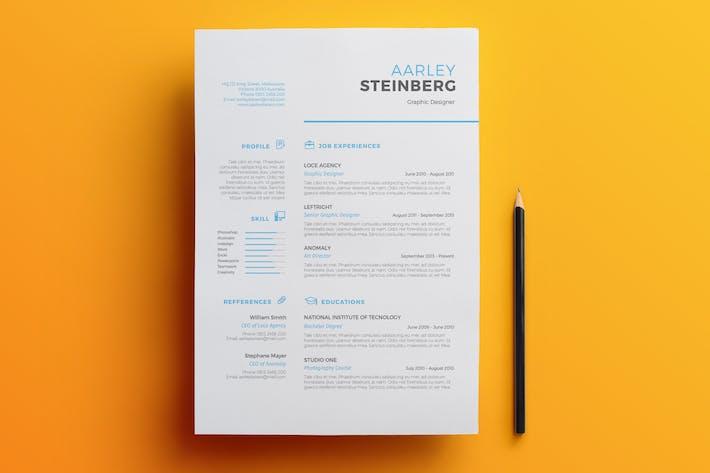 minimalist resume 03 by aarleykaiven on envato elements