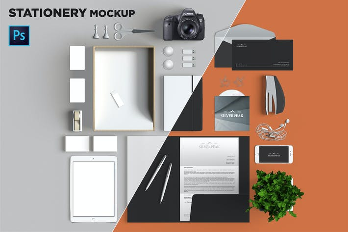 Thumbnail for Brand Identity / Stationery Mockup 05