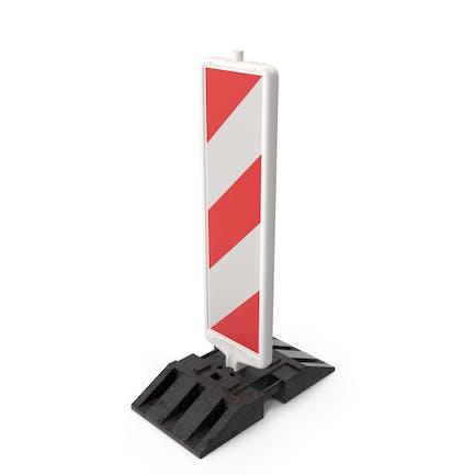 Светоотражающий маяк для дорожных работ вертикальный с полосами