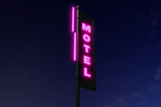 Motel Neon Mockup