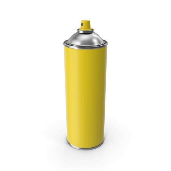Желтый спрей не может крышки