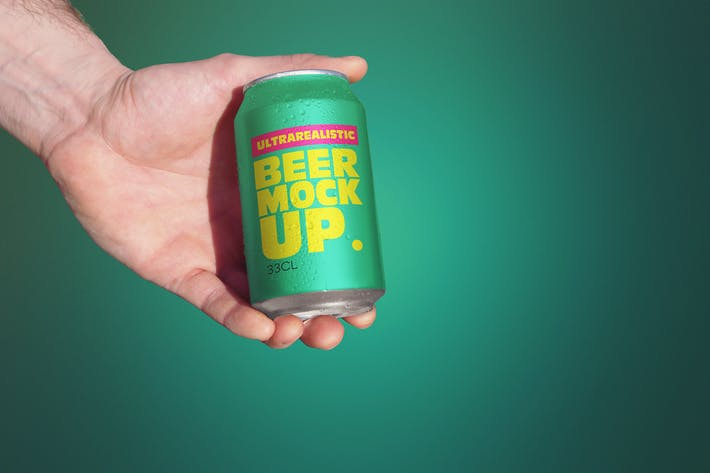 Thumbnail for Clean Hand Beer Can Mockup