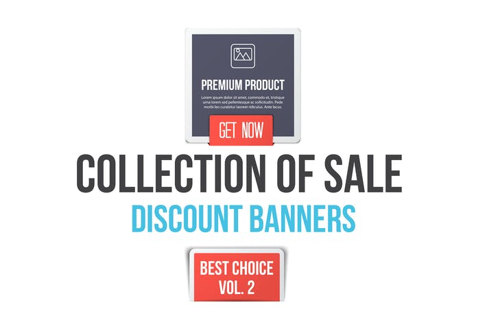 Thumbnail for Collection of Sale Discount Banners