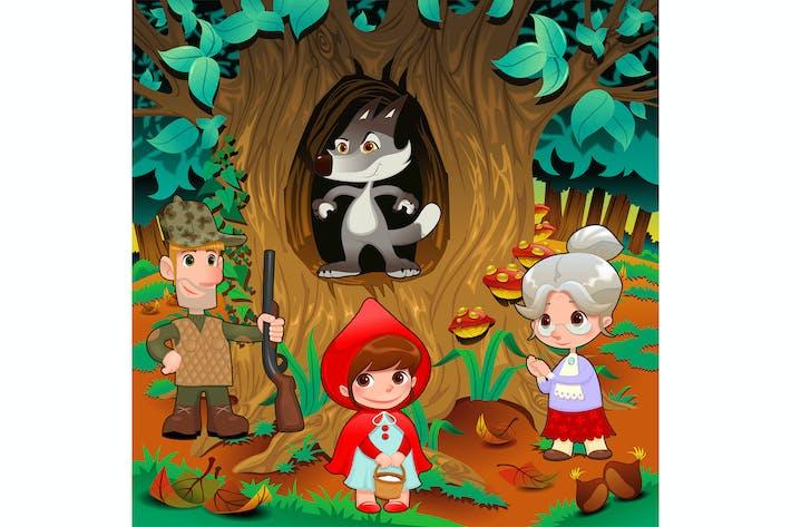 Thumbnail for Little Red Hiding Hood Scene