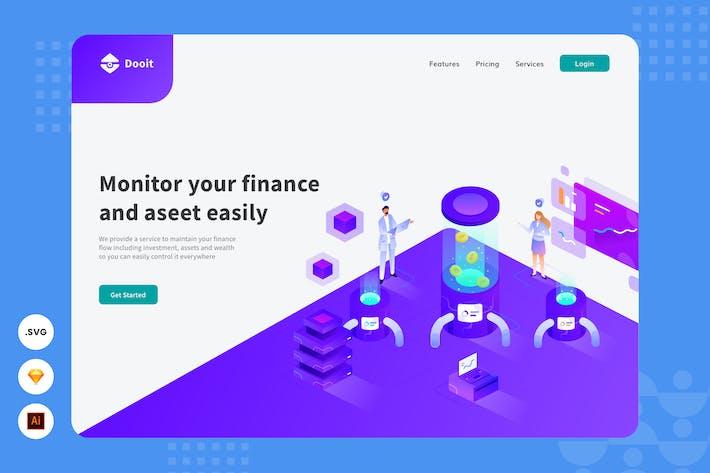 Financial Analysis -  Website Header Illustration