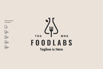 Food Lab Fork Hipster Logo