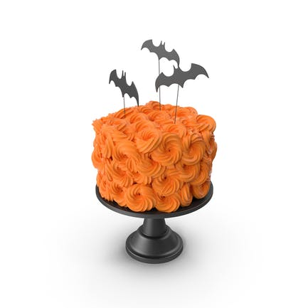 Halloween Cake with Bat Topper and Black Base