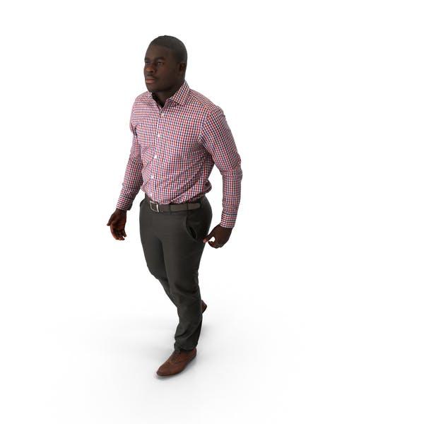 Spring Casual Man Walking