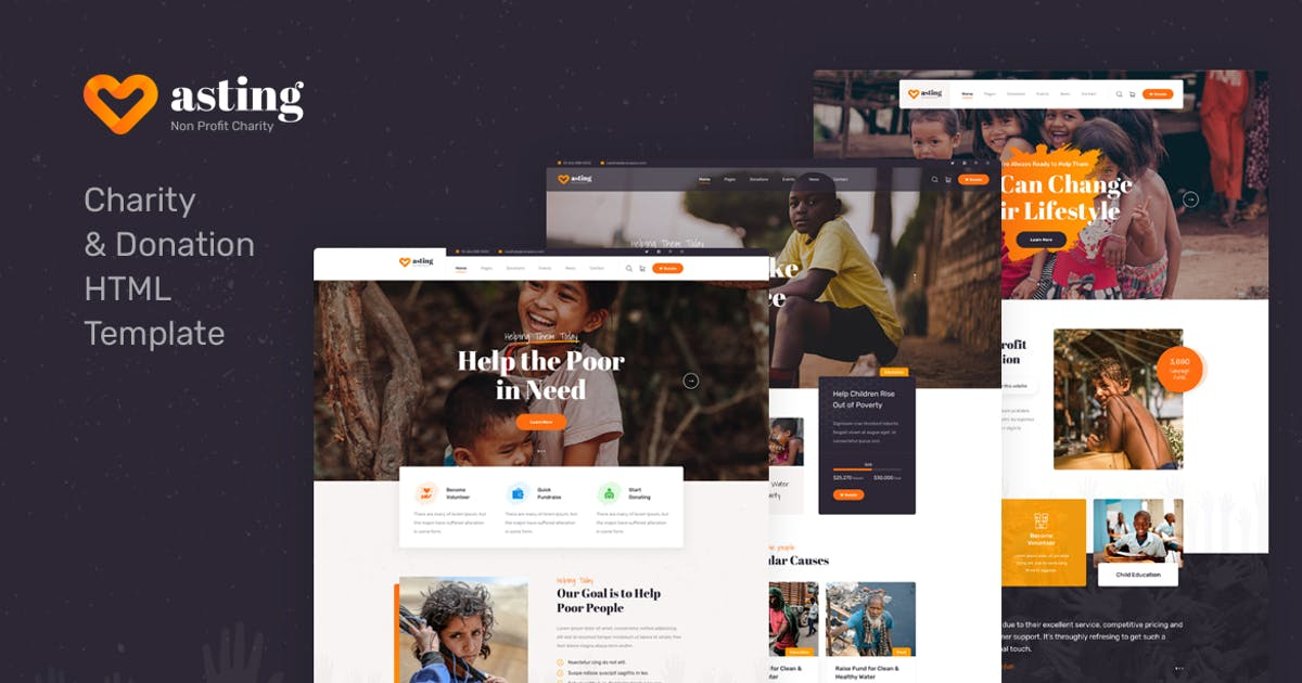 Download Asting - Charity & Donation HTML Template by Layerdrops