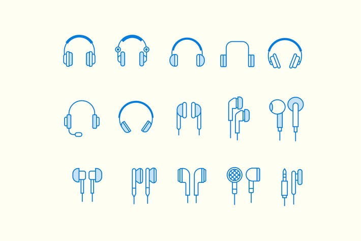 Thumbnail for 15 Headphone Earphone Icons