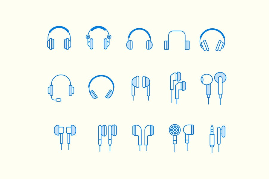 15 Headphone Earphone Icons