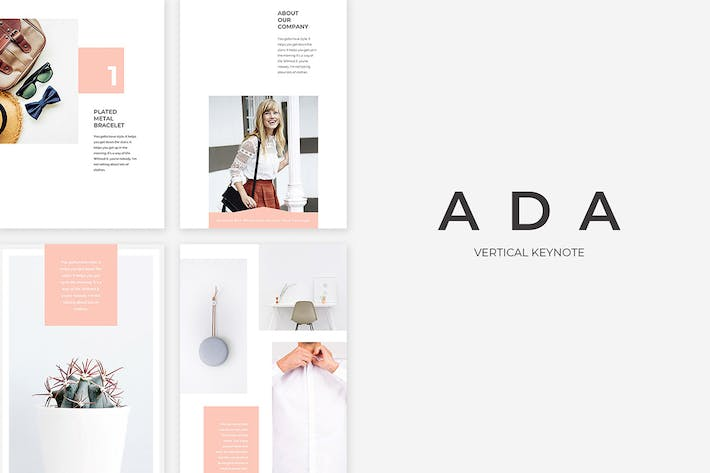 Thumbnail for Ada Vertical Keynote Presentation Template