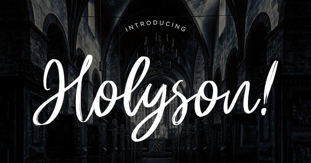 Download Holyson Calligraphy Brush by RahardiCreative